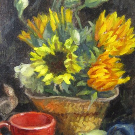 Flowers From Daniel (Oil) 10x8