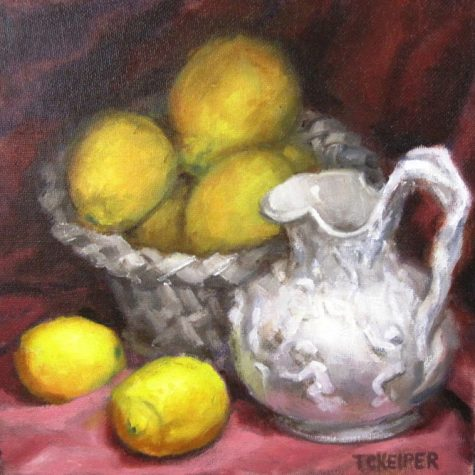 Lemons With Pitcher (Oil) 8x8