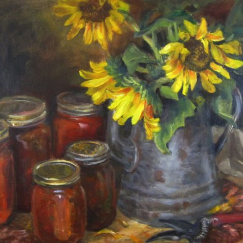 Sunflowers and Salsa (Oil) 12x16