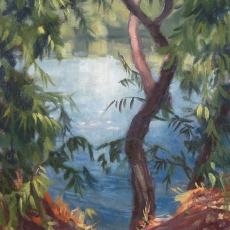 The Fishing Hole (Oil) 12x9