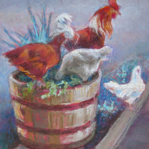 A Hen in Every Pot (Pastel)