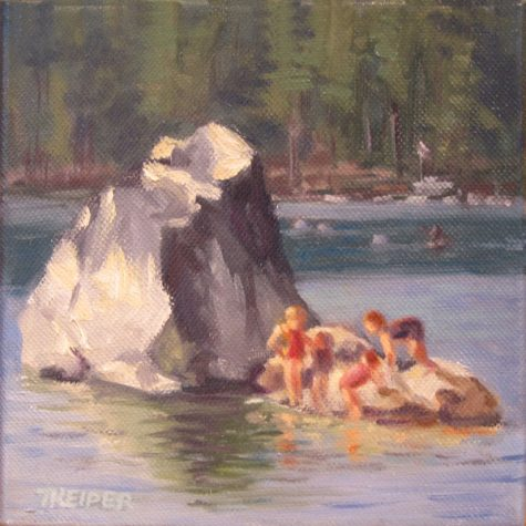 Childrens Rock (Oil)