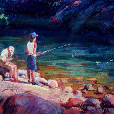 Gone Fishin (Pastel)