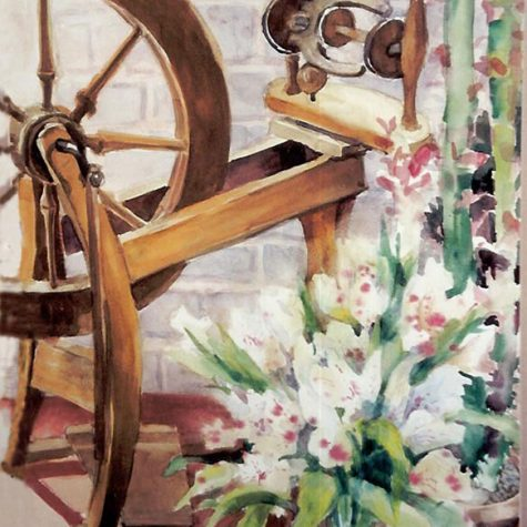 Spinning Wheel (Watercolor)