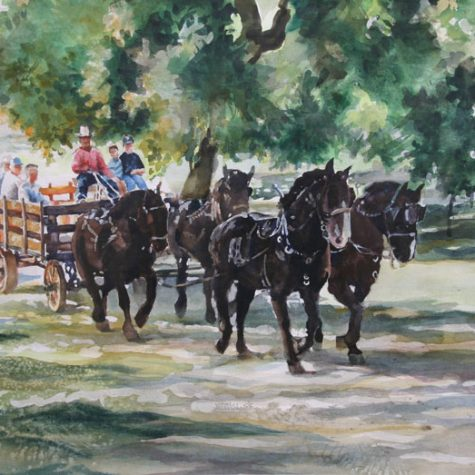 Wagonride at Bloomingcamps (Watercolor)