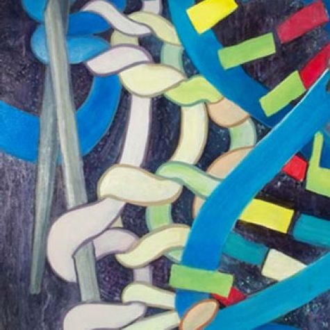 Another Life Another Purpose (Acrylic) Detail Knitting DNA Chain