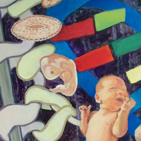 Another Life Another Purpose (Acrylic) Detail Zygote to Fetus