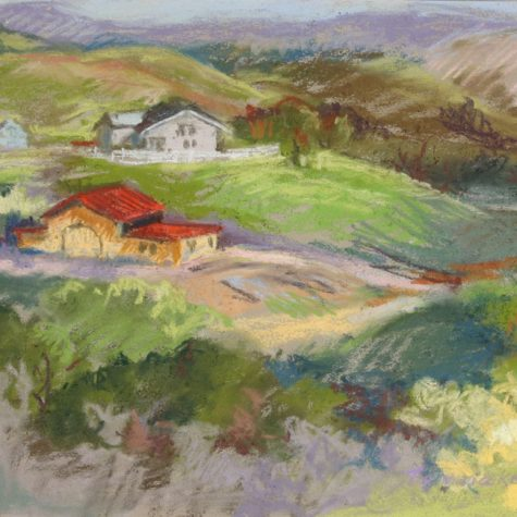 Foothill View (Pastel)