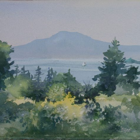 Camden Hills (Watercolor)