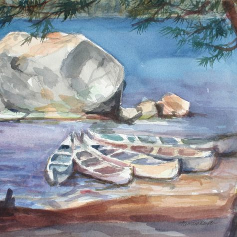 Five Canoes (Watercolor)