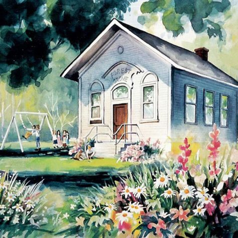 Forest Grove School House (Watercolor)