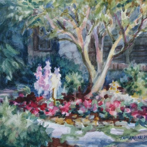 Front Yard Garden (Watercolor)