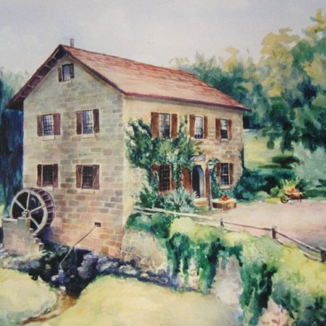 Old Water Mill (Watercolor)
