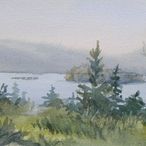 View From Aunr Magils (Watercolor)